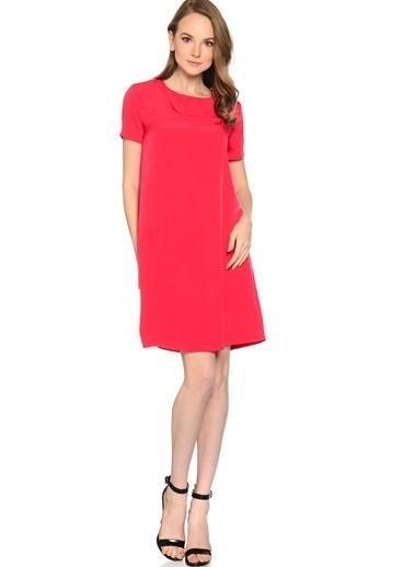 Limon Company Kısa Kollu Düz Elbise Kırmızı